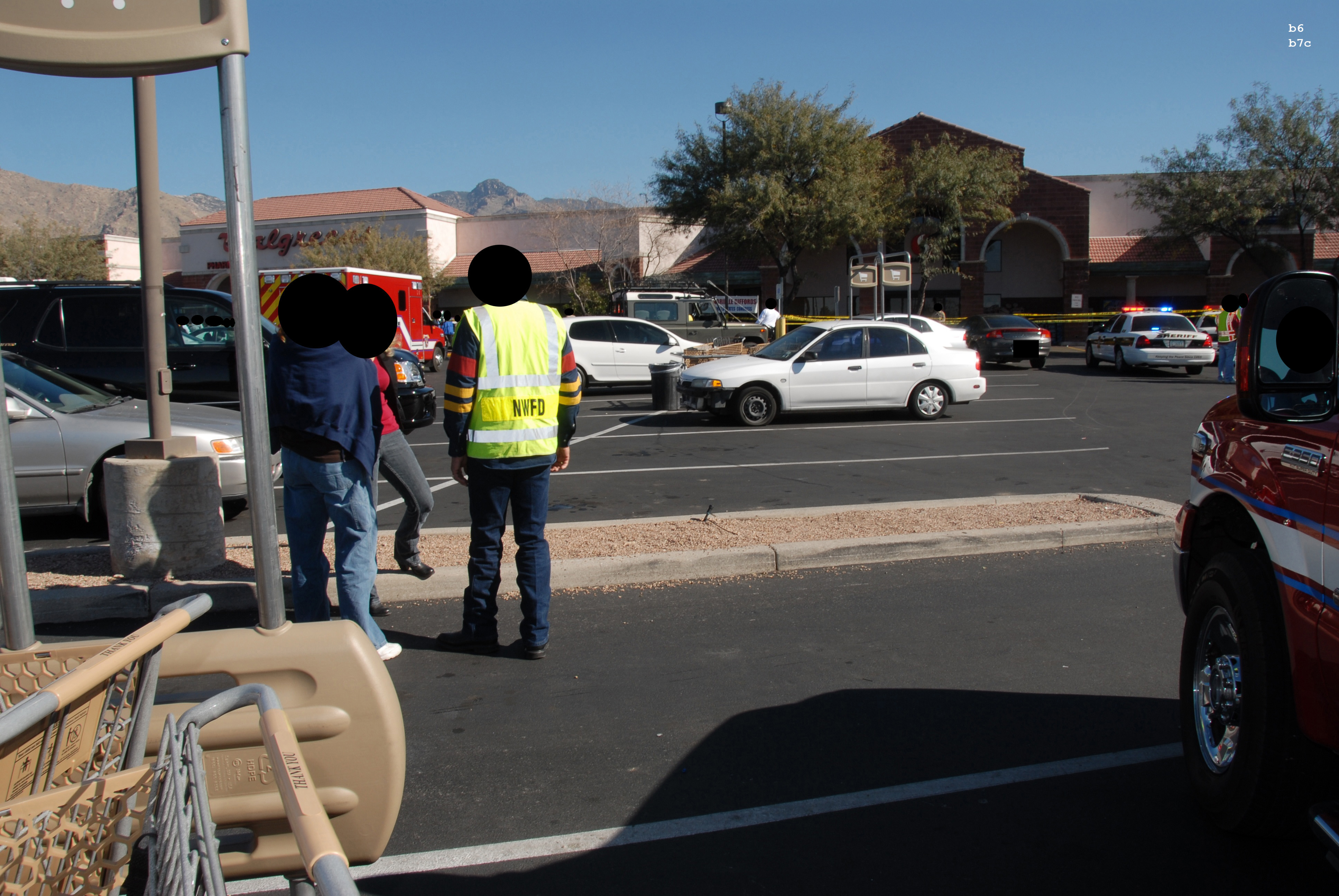 Fbi Records The Vault 2011 Tucson Shooting Crime Scene