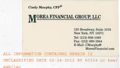 Cynthia Murphy's Business Card
