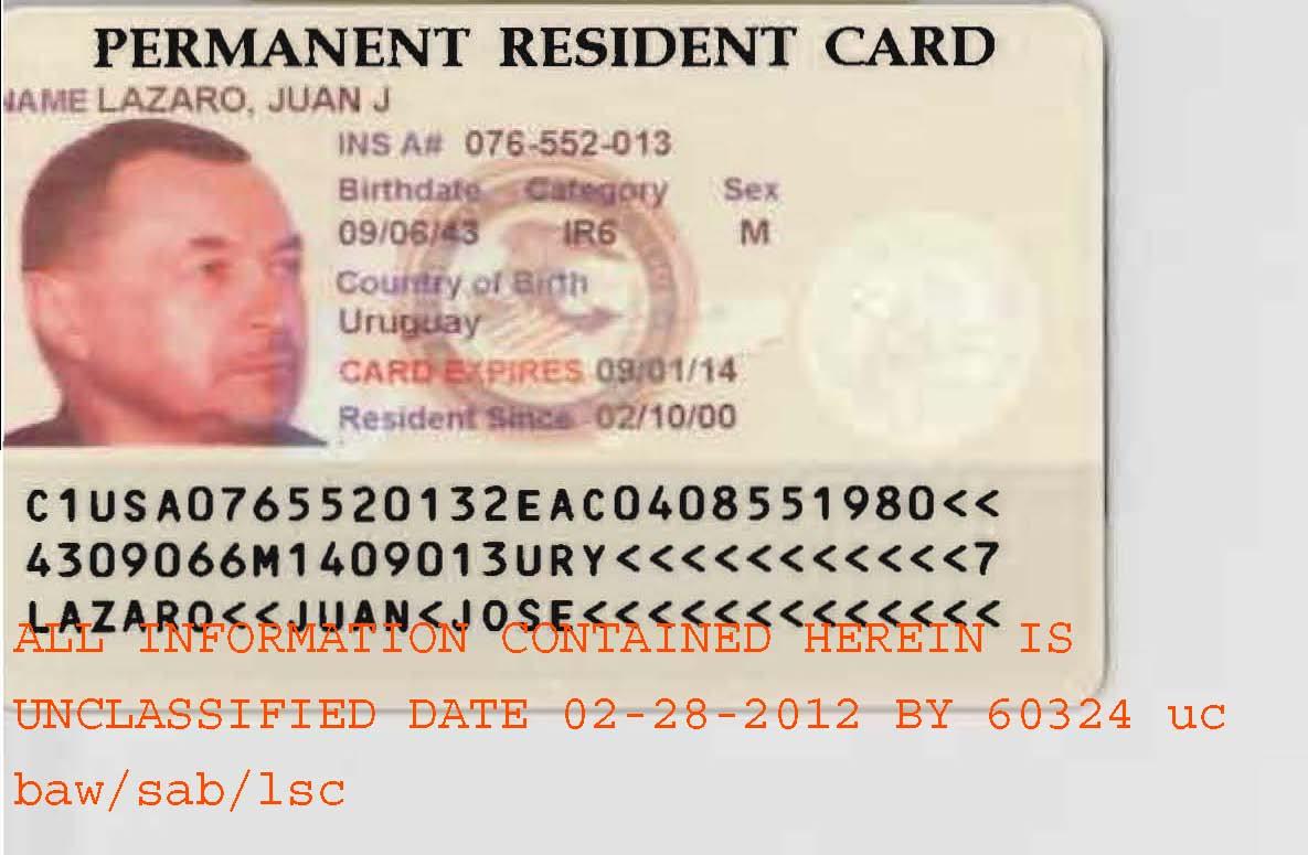 fbi juan lazaro s permanent resident card photo 1